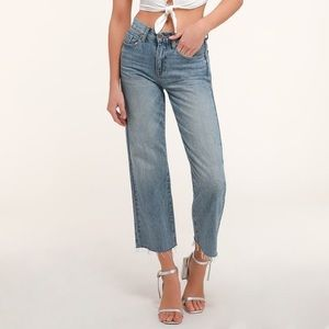 Pistola Cher Wide Leg High-Waisted Cropped Jeans